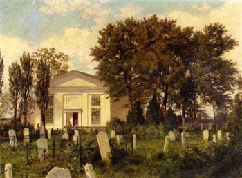The Roxborough Baptist Church | William Trost Richards | oil painting