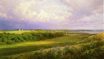 The Watson Farm Conanicut Rhode Island | William Trost Richards | oil painting