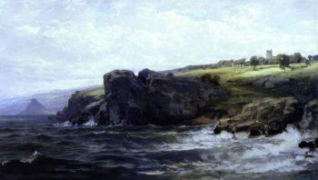 Tower on the Cornnish Coast | William Trost Richards | oil painting