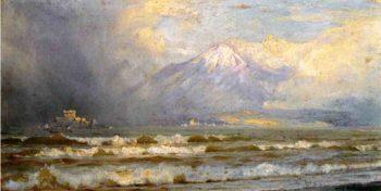 Vesuvius in winter | William Trost Richards | oil painting