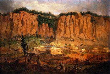 Cliff Mine | Robert Scott Duncanson | oil painting