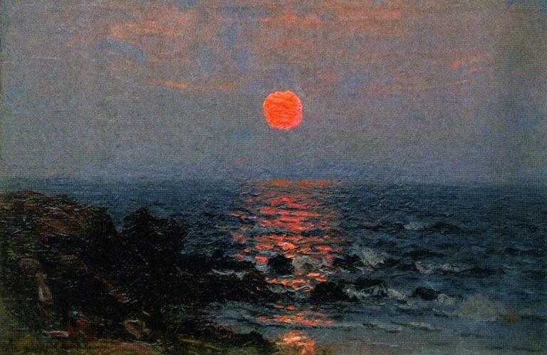 Moonlight on the Ocean   John Joseph Enneking   oil painting