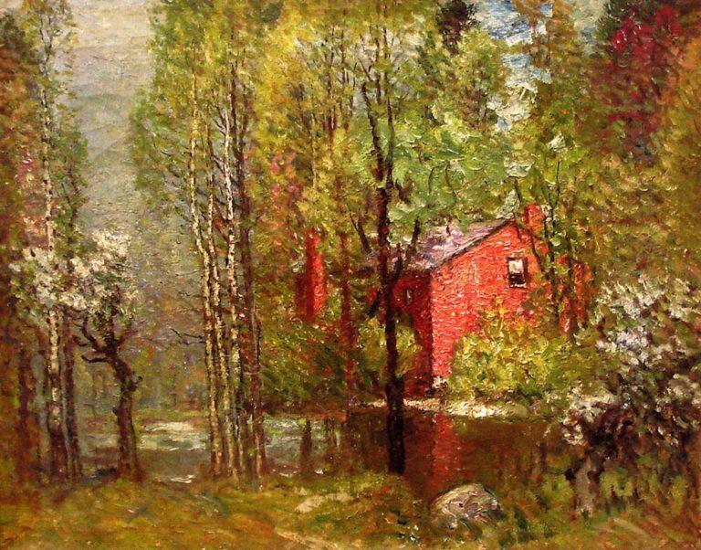 Old Brick House on the Neponset | John Joseph Enneking | oil painting
