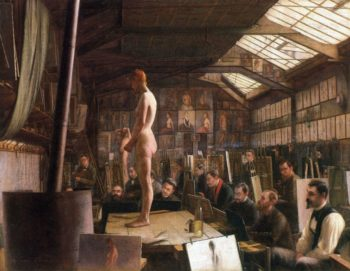 Bouguereau's Atelier at the Acadeemie Julian, Paris Jefferson David Chalfant