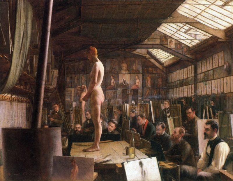Bouguereau's Atelier at the Acadeemie Julian, Paris Jefferson David Chalfant