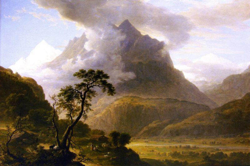 Alpine View near Meyringen | Asher B Durand | oil painting