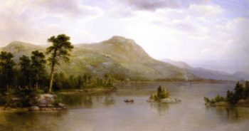 Black Mountains from the Harbor Islands Lake George | Asher B Durand | oil painting