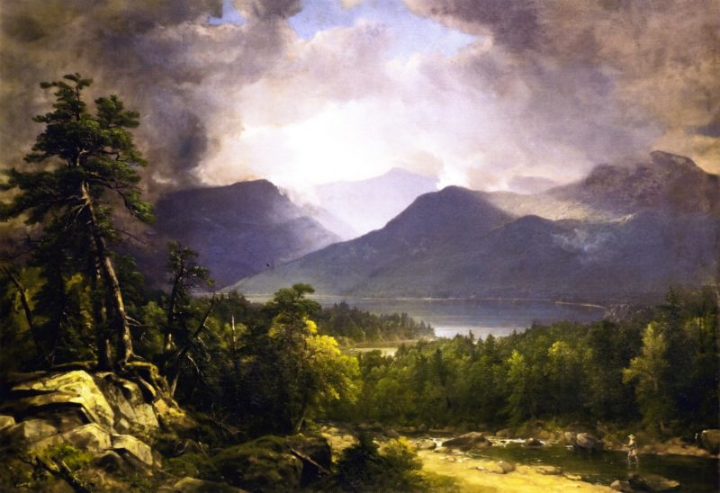 Clearing Up   Asher B Durand   oil painting