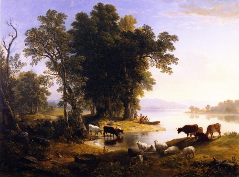 Hudson River Looking Toward the Catskills | Asher B Durand | oil painting
