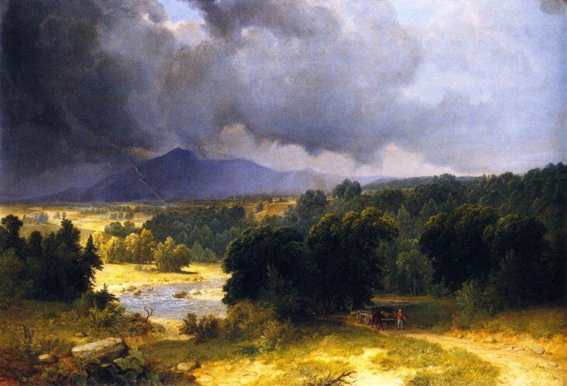 June Shower | Asher B Durand | oil painting