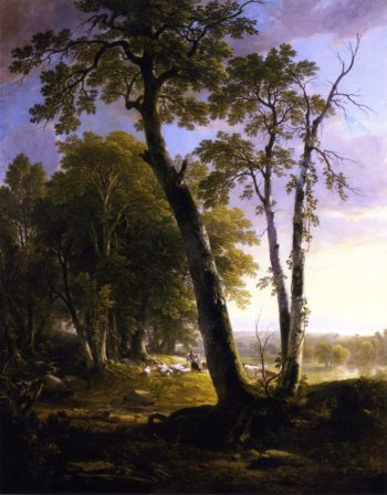 Landscape Composition Afternoon In the Woods | Asher B Durand | oil painting