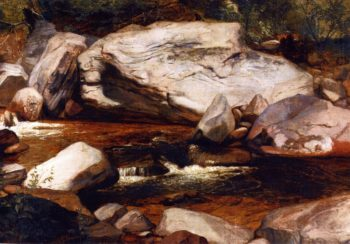 Landscape Creek and Rocks | Asher B Durand | oil painting