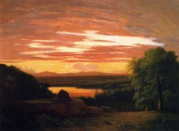 Landscape Sunset | Asher B Durand | oil painting
