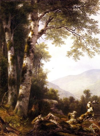 Landscape with Birches | Asher B Durand | oil painting
