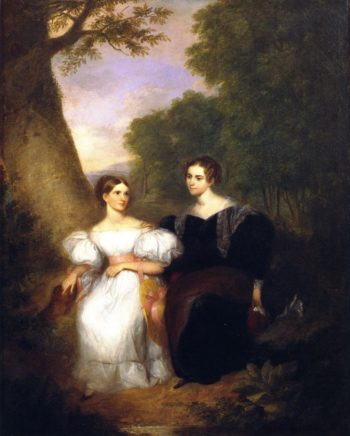 Portrait of the Artist's Wife and Her Sister | Asher B Durand | oil painting