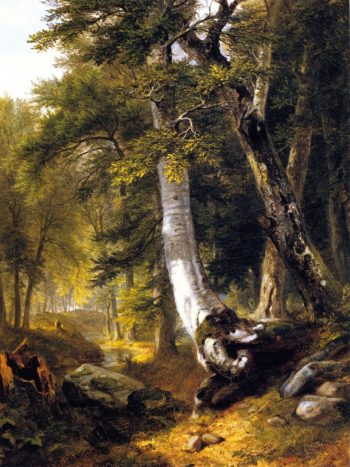 Sketch in the Woods | Asher B Durand | oil painting