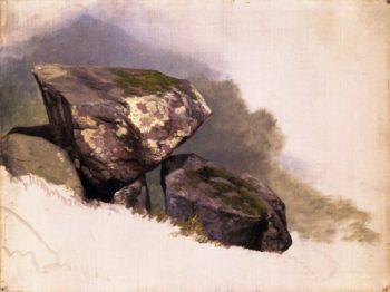 Study of a Rock | Asher B Durand | oil painting