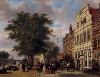 Haven van Middelburg | Cornelius Springer | oil painting