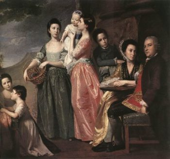 The Leigh Family   George Romney   oil painting