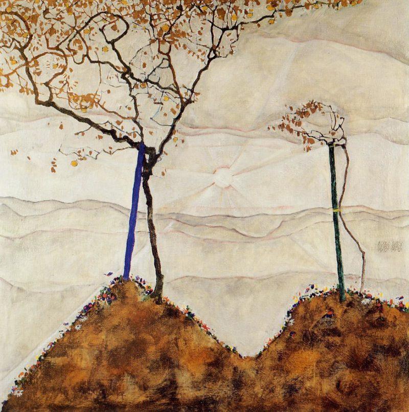 Autumn Sun I | Egon Schiele | oil painting