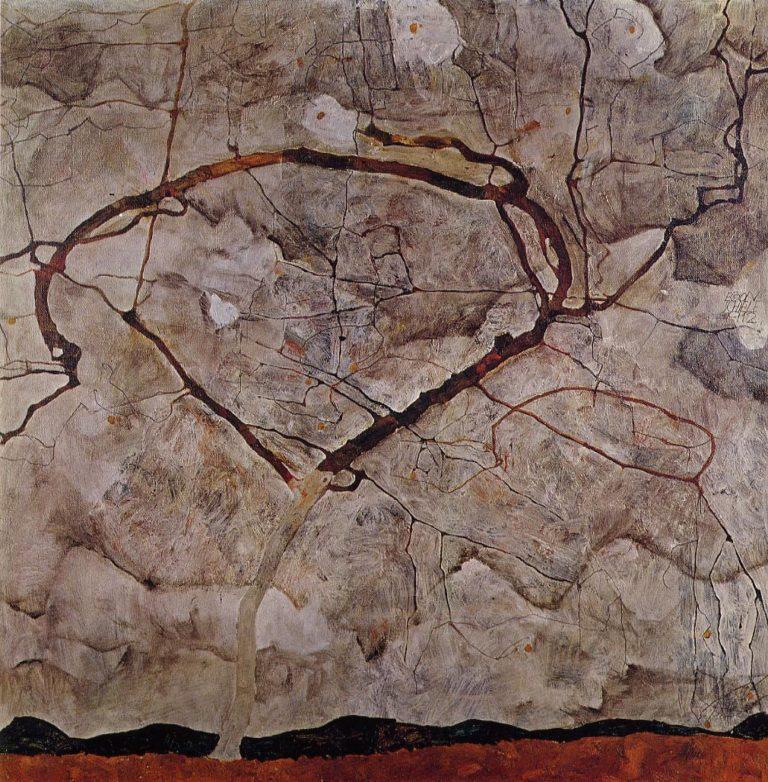 Autumn Tree in Movement | Egon Schiele | oil painting