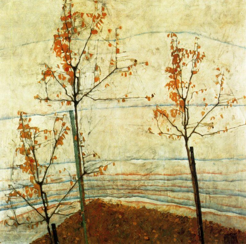 Autumn Trees | Egon Schiele | oil painting