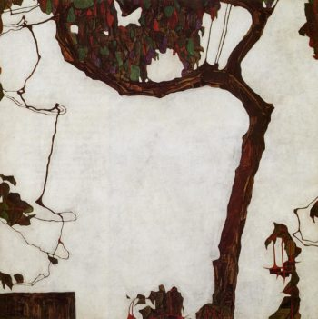 Autumn Tree with Fuchsias | Egon Schiele | oil painting
