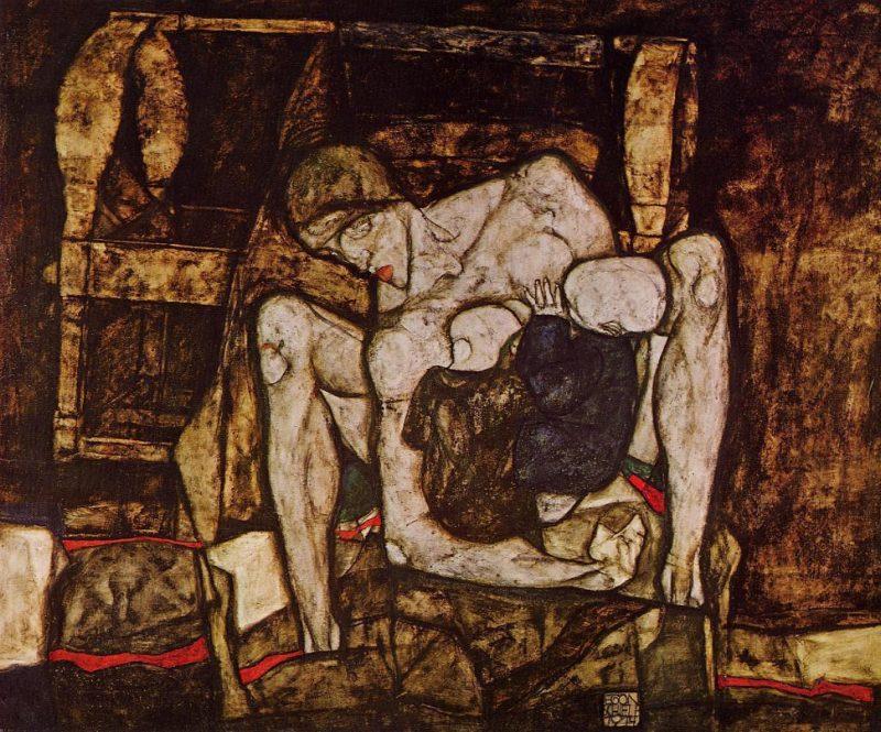 Blind Mother | Egon Schiele | oil painting