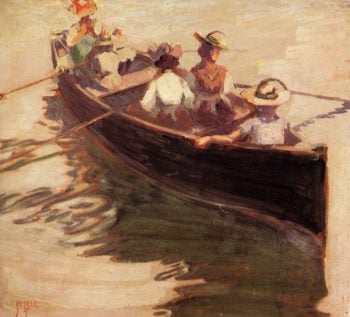 Boating | Egon Schiele | oil painting