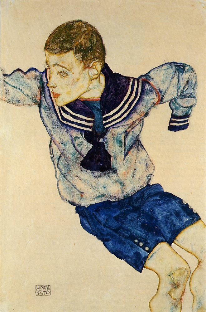 Boy in a Sailor Suit | Egon Schiele | oil painting