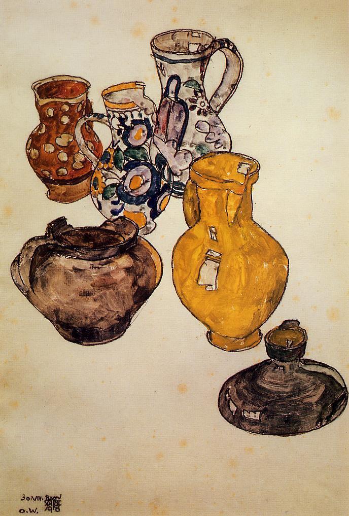 Ceramics | Egon Schiele | oil painting