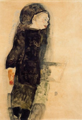 Child in Black | Egon Schiele | oil painting