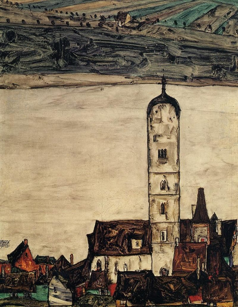 Church in Stein on the Danube | Egon Schiele | oil painting