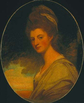 Elizabeth Countess of Craven Later Margravine of Anspach   George Romney   oil painting