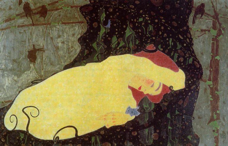 Danae | Egon Schiele | oil painting