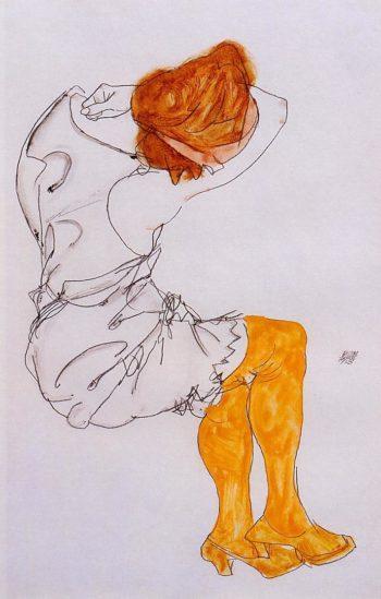 Das Schlafende Madchen | Egon Schiele | oil painting