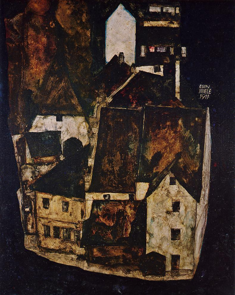 Dead City III | Egon Schiele | oil painting
