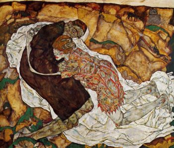 Death and the Maiden | Egon Schiele | oil painting