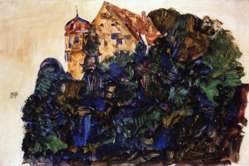 Deuring Castle Bregenz | Egon Schiele | oil painting