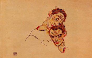 Double Self Portrait | Egon Schiele | oil painting