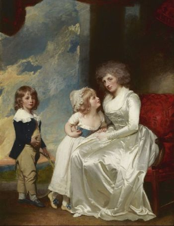 Henrietta Countess of Warwick and Her Children | George Romney | oil painting