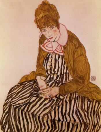 Edith Schiele Seated | Egon Schiele | oil painting