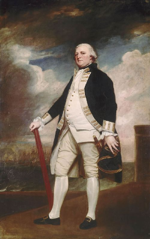 Portrait of Vice Admiral George Darby | George Romney | oil painting
