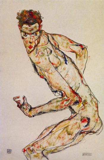 Fighter | Egon Schiele | oil painting