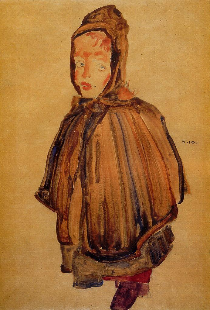 Girl with Hood | Egon Schiele | oil painting