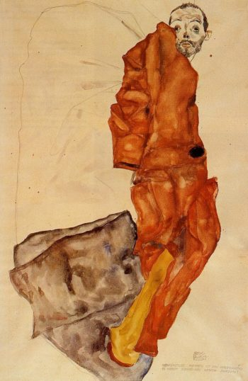 Hindering the Artist is a Crime It is Murdering Life in the Bud | Egon Schiele | oil painting