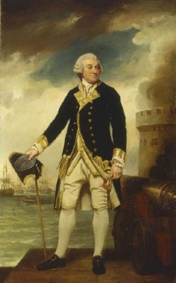 Admiral Sir Francis Geary | George Romney | oil painting