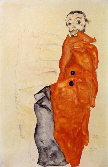 I Love Antitheses | Egon Schiele | oil painting