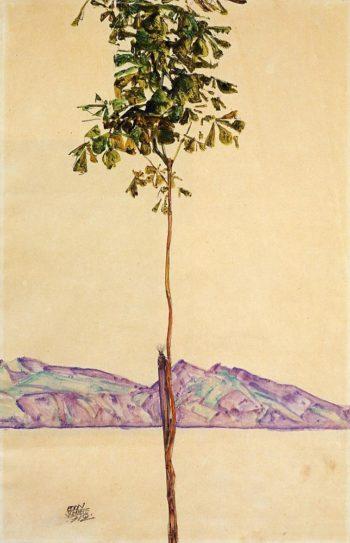 Little Tree | Egon Schiele | oil painting