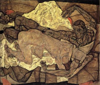 Lovers Man and Woman I | Egon Schiele | oil painting